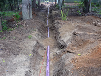 Subsurface Irrigation Line
